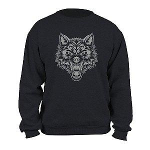 Blusão de Moletom com Capuz  Wolf Night - Masculino