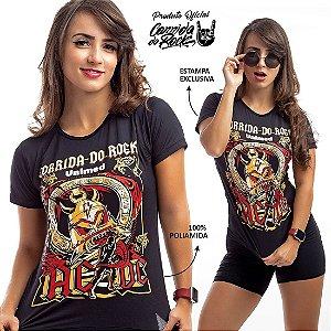 Camiseta Corrida do Rock  Preta AC/DC em Poliamida