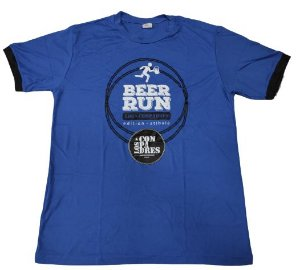 Camiseta Beer Run Azul em Poliamida