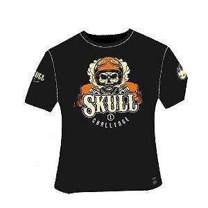 Camiseta Skull Challenge I Preta em Poliamida