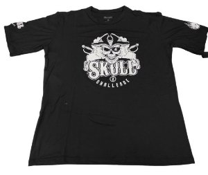 Camiseta Skull Challenge 2 Preta em Poliamida
