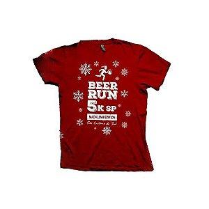 Camiseta Beer Run Vermelha em Poliamida