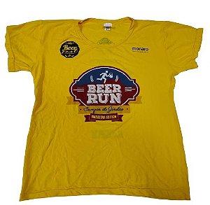 Camiseta Beer Run Amarela Campos do Jordão em Poliamida