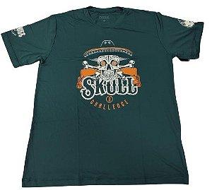 Camiseta Skull Challenge 3 Verde Escuro em Poliamida