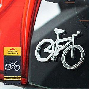 Adesivo Bike Cromado para Carro