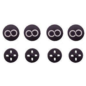 Button PRETO Prendedor de Número (Substitui Alfinete)