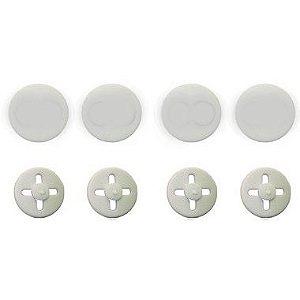 Button BRANCO Prendedor de Número (Substitui Alfinete)