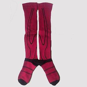 Meia de Compressão Rosa com Preto - Tamanho M (35 A 40)