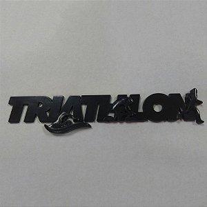 EMBLEMA TRIATHLON PRETO 2 em 1 ( Possui imã e acompanha adesivo dupla-face)
