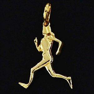 Pingente Corredora Folheado em ouro 18k