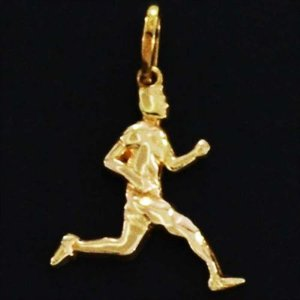 Pingente Corredor Folheado em ouro 18k