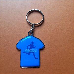Chaveiro Mania de Corrida Camiseta Azul