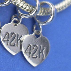 Berloque Coração 42k em Prata 925