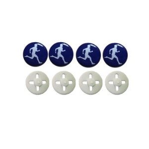 Button Prendedor de Número com Adesivo Resinado Azul Marinho