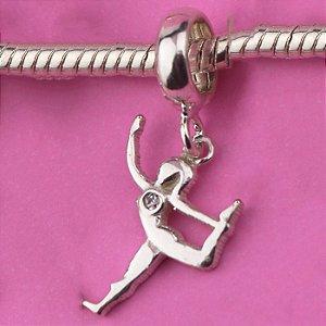 Berloque Yoga em Prata 925 com 1 Zirconia