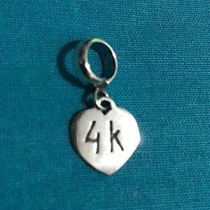 Berloque Coração 4k em Prata 925