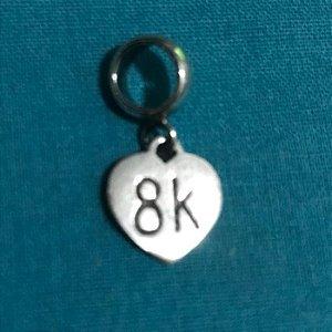 Berloque Coração 8k em Prata 925