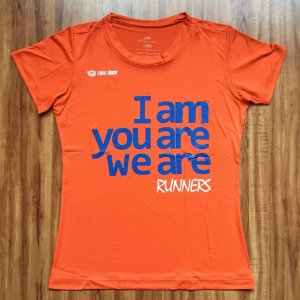 "Camiseta RUNINBOX ""TO BE"" Laranja"