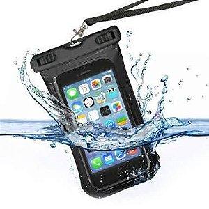 Capa Protetora Smartphone a Prova D'agua Preta