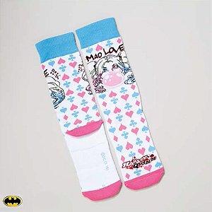 Meia Lupo Urban Arlequina Batman - Produto Licenciado
