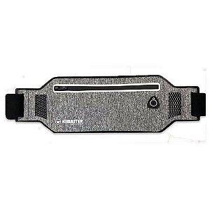 Pochete Esportiva Ultra Slim Impermeável Para Celular Até 6.3 Polegadas Ar80 Cinza e Preta