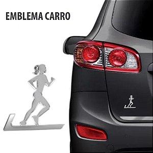 Emblema Adesivo Para Carro Corredora Cromado