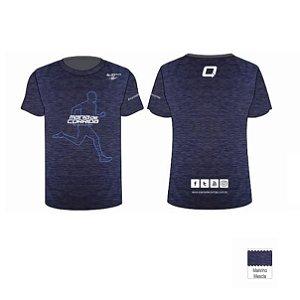 Camiseta Mania de Corrida Mesclado Masculina (Tamanho com Corte Menor, recomendado um número a mais do que o tradicional)