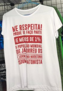 "Camiseta ""ME RESPEITA #SOUMARATONISTA"" Branca Feminina"