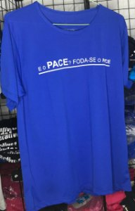Camiseta Foda-se o Pace Azul