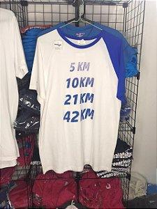 Camiseta Distâncias Corrida Detalhes Azuis