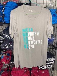 Camiseta Meia Maratona Cinza