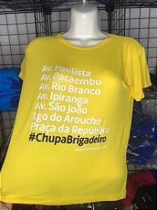 Camiseta #CHUPABRIGADEIRO Finisher Amarela