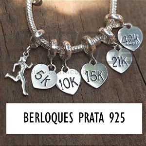 Pulseira e/ou  Berloques de Corrida em Prata 925