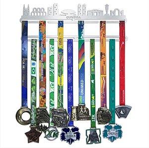 Porta Medalhas Temático Cidades - Curitiba, Florianópolis ou Rio de Janeiro - 32 Medalhas