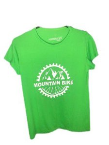 Camiseta Moutain Bike Verde em Poliamida