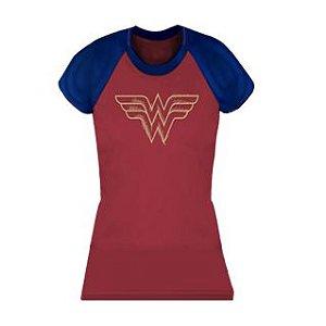 Camiseta Mulher Maravilha Vermelha e Azul - Produto Oficial Yescom | DC Runseries