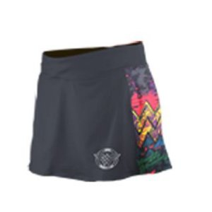 Shorts Saia Corrida Mulher Maravilha Cinza - Produto Oficial Licenciado