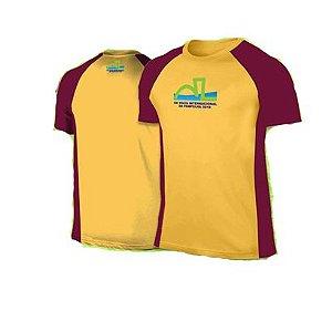 Camiseta Volta Internacional da Pampulha 2019 - Amarela com detalhes Grená