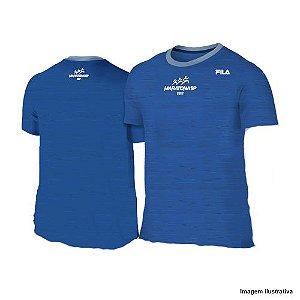 Camiseta Maratona de São Paulo 2017 - Mescla Azul Escuro