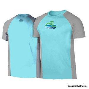 Camiseta Volta Internacional da Pampulha 2017 - Azul claro com detalhes Cinza