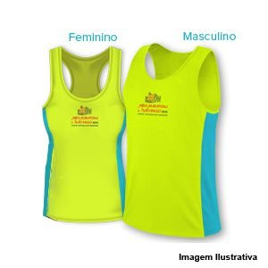 Camiseta Regata Meia Maratona Internacional de São Paulo 2019 - Verde limão