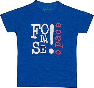 Camiseta Foda-se o Pace!  - Mescla Azul