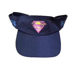 Viseira Supergirl Run Azul - Produto Oficial Yescom | DC Runseries