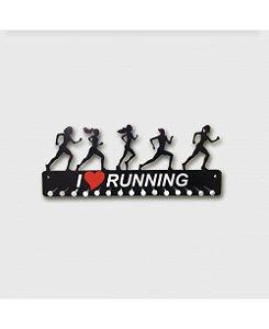 Porta Medalhas Corredoras Feminino em MDF - Frase I S2 Running