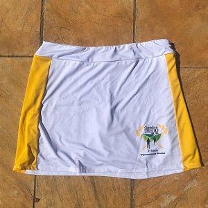 Shorts Saia Corrida do Trigo Branco e Amarelo