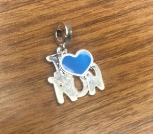 Berloque I S2 RUN - Coração Azul - Folheado a Prata