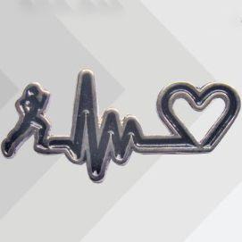 Pin Button BATIMENTO CORREDORA Metal ( 2 cm x 4,5 cm )