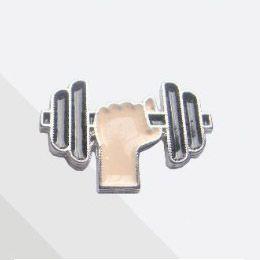 Pin Button Haltere/Crossfit/Musculação Metal ( 1,8 cm x 2,6 cm )
