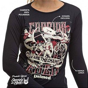 Camiseta Manga Comprida Corrida do Rock - We are the Champions