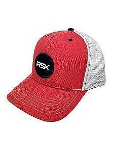 Boné Rodeo Sport RSX Vermelho e Branco Tela